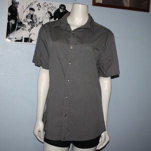Men's Tony HAWK M Gray Button shirt